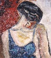 Mosaico raffigurante donna