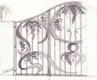 Disegno di un cancello
