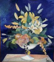 Quadro con vaso di fiori